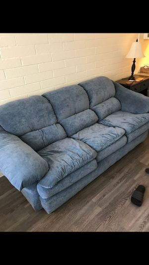Blue couch and loveseat for Sale in Tempe, AZ