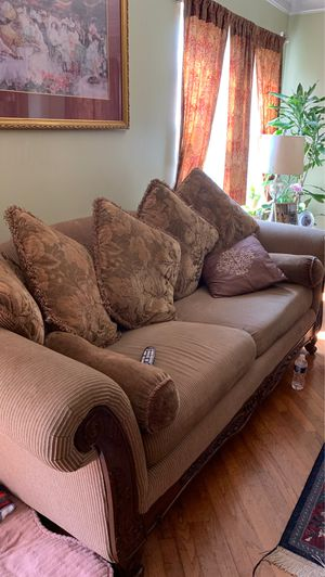 3 brown couch for Sale in Rockville, MD