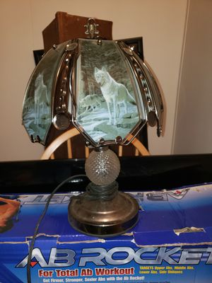 Antique Wolf Glass Touch Lamp for Sale in Bremerton, WA