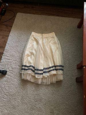 Ryu Cream Mesh Ruffle Hem Lace Trimmed Skirt for Sale in Fullerton, CA