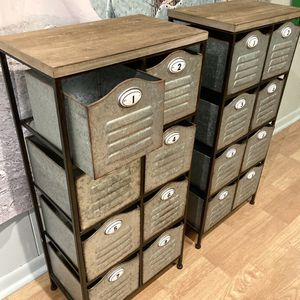 Numbered Storage Bins In Storage Cabinet for Sale in Carrollton, TX