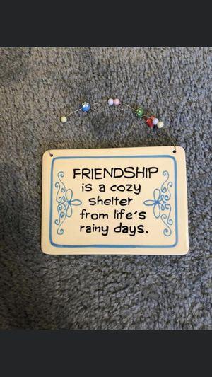 Friendship wall decor for Sale in Brainerd, MN