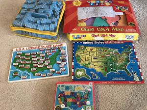 Lot of Map puzzles/game for Sale in Plainfield, IL