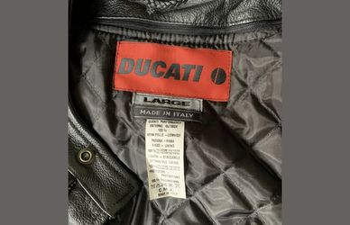 Genuine Ducati Performance Black motorcycle Leather Jacket Size Large. Condition is Pre-owned. Barely used. (few days). Almost brand new. Shoulders for Sale in Centreville,  VA