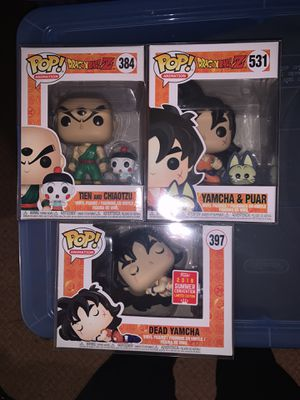 Lot of 3 dragonball z Funko pop yamcha and then for Sale in Guttenberg, NJ