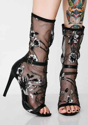 Dolls Kill - Garden Gal Sheer Stiletto Heels for Sale in Upland, CA
