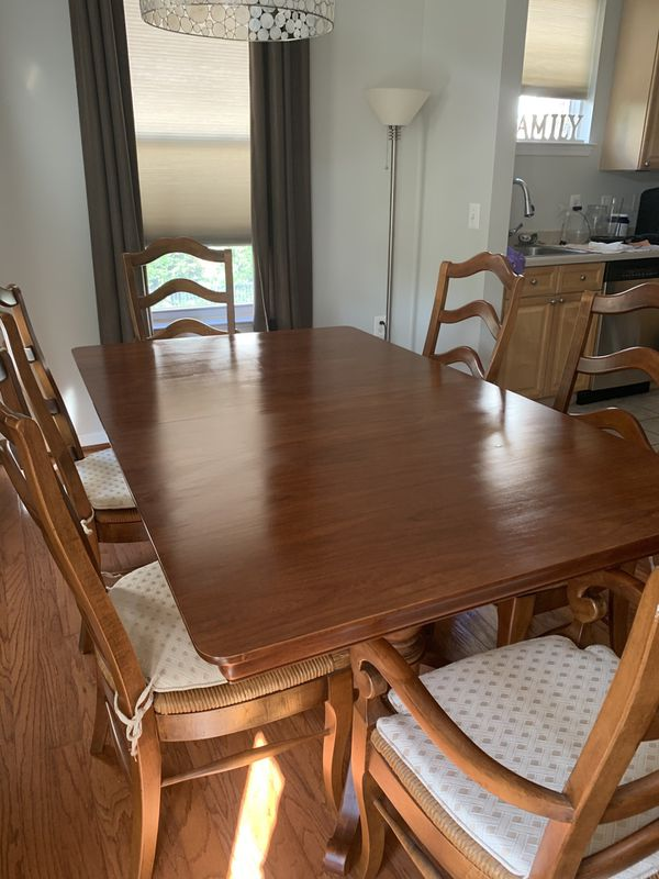 Solid Cherry Farm Style Dining Table