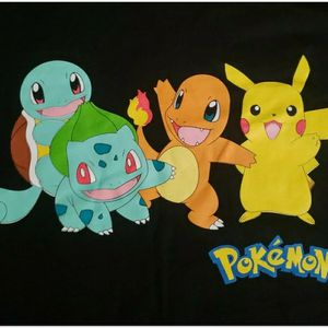 Black Pokemon PIKACHU Graphic Shirt Adult Size Medium for Sale in Whittier, CA