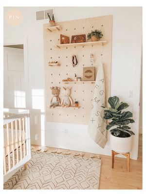 Wooden Pegboard / display board / shelving unit / wall organizer / peg board / child's storage / kitchen storage / flexible storage for Sale in Tustin, CA