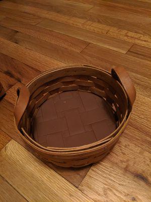 Longaberger basket with ceramic warming brick for Sale in Denver, CO