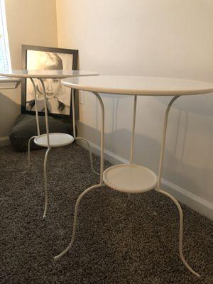 White IKEA Side Tables for Sale in Smyrna, GA