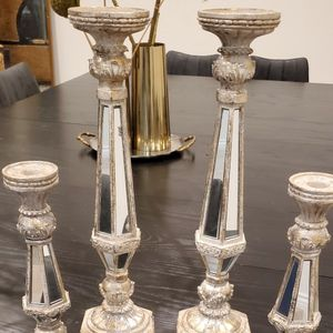 Set Of 4 Mirrored Candle Holders for Sale in El Segundo, CA