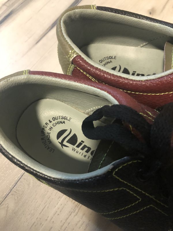 Linds World Impex Bowling Alley Shoes Size 8M/9W Leather Red Green Blue