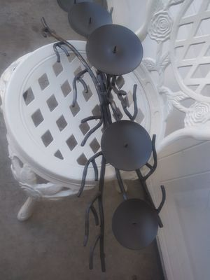 WROUGHT IRON CANDLE HOLDER for Sale in Santa Fe Springs, CA