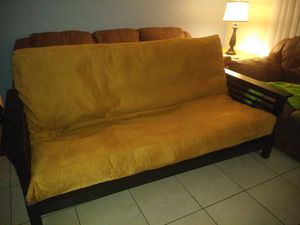 Solid wood futon frame sofa and mattress for Sale in Palm Harbor, FL