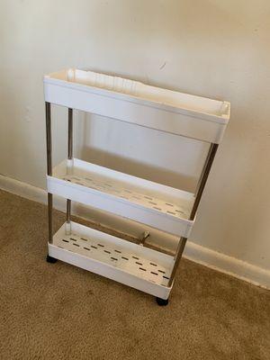 White 3 shelf cart on wheels for Sale in Upper Gwynedd, PA