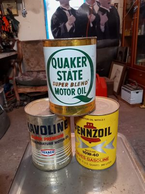 3 vintage cardboard cans or motor oil for Sale in Hayward, CA