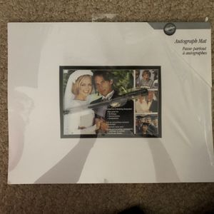 Wedding autograph mat for Sale in Martinsburg, WV