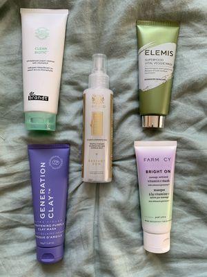 Various face masks (Farmacy, Elemis, Dr. Brandt, Generation Clay, etc) for Sale in Santa Clara, CA