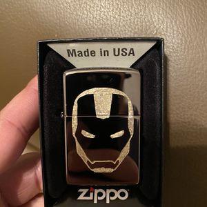 Zippo Iron Man Logo Mirror Lighter for Sale in Cut Off, LA