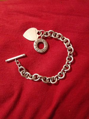 Tiffanys bracelet used with heart for Sale in Anaheim, CA