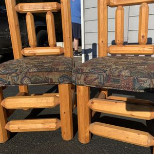 4 Log Chairs for Sale in Portland, OR