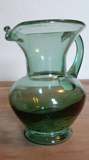 Handblown Green Art Glass Pitcher for Sale in Moreno Valley, CA