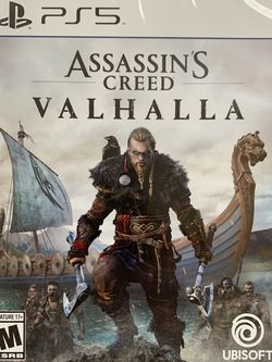 New Assassin Creed Valhalla for PlayStation 5 for Sale in Lynnwood,  WA