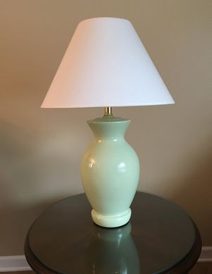 Pale green lamp with shade for Sale in Campton Hills, IL