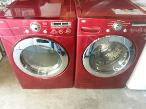 LG front load washer and Gas dryer set $700 for Sale in Fresno, CA