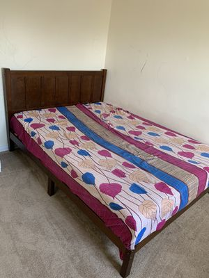Wooden bed frame for Sale in Maywood, NJ