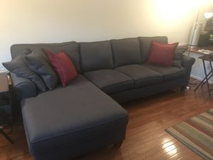Sofa chaise combo - Haverty's. Only one year old. for Sale in Springfield, VA