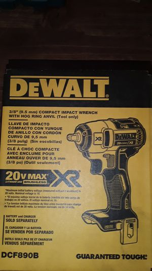 Dewalt 3/8 compact impact wrench with hog ring for Sale in San Jose, CA