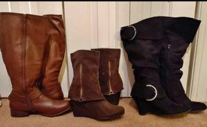 3 PAIRS OF WOMAN'S BOOTS 8.5 for Sale in Garner, NC