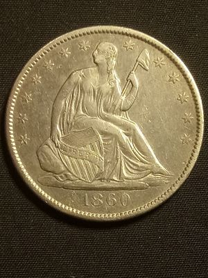 1860 SEATED LIBERTY HALF-DOLLAR *ALMOST UNCIRCULATED! *OLD 🇺🇸 SILVER COIN for Sale in Playa del Rey, CA
