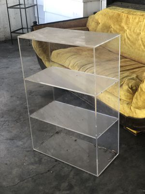Vintage 60s MCM Lucite Mid Cube Shelving Plastic Shelves Display Stands for Sale in Austin, TX