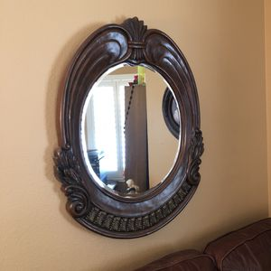 Vintage Wooden Hanging Wall Mirror for Sale in North Las Vegas, NV