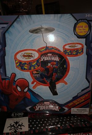 Ultimate Spider-Man Jazz drum set with stool! for Sale in Orlando, FL
