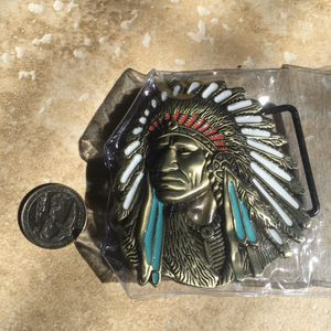 NEW! Vintage American Indian Belt Buckle for Sale in Castro Valley, CA