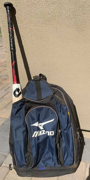 Mizuno bat bag for baseball or softball - backpack style for Sale in Phoenix, AZ