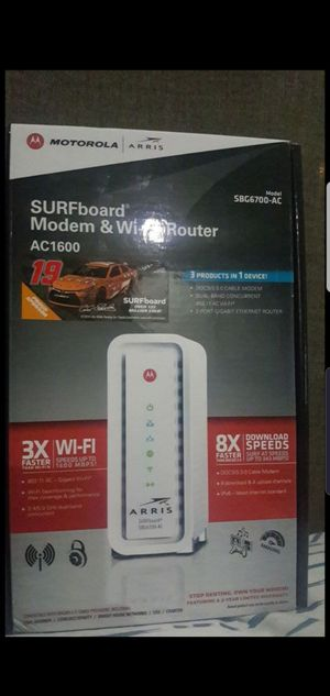 Surfboard modem & Wi-Fi router AC1600 for Sale in Los Angeles, CA