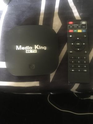Media King 4K Android Tv Box fully loaded for Sale in West Point, MS