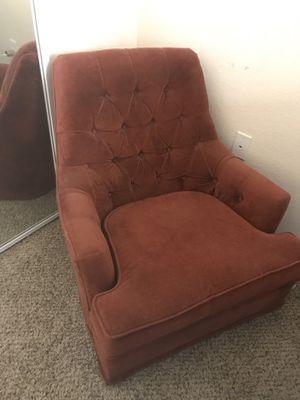 Orange velvet chair for Sale in Tempe, AZ