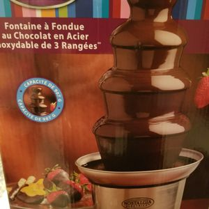 Nostalgia Electrics 3 Tier Stainless Steel Chocolate Fondue Fountain Brand New for Sale in Los Angeles, CA