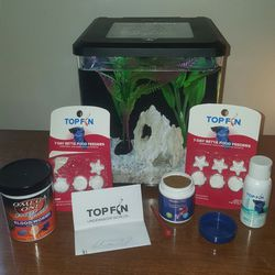 Small Fish Tank With Betta Accesories for Sale in Indianapolis,  IN