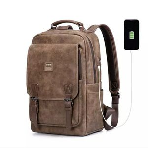 Leather travel backpack w/ usb charging port for Sale in Mesa, AZ