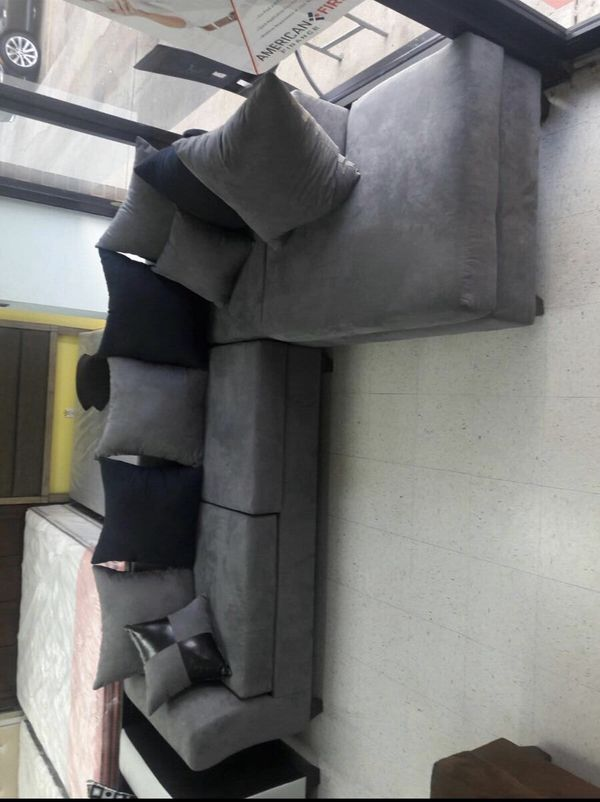 New grey sectional