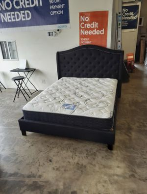 New Black Fabric Platform Bed Frame : Full / Queen / King / Cal King : Mattress Set Sold Separately : No Box Spring Required for Sale in San Leandro, CA