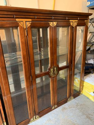 Strong Wooden China cabinet for Sale in Burlington, MA