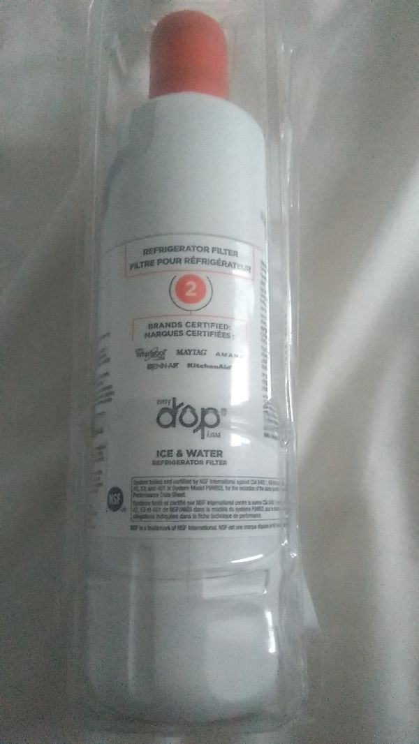 Drop ice & water refrigerator filter